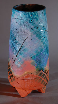 Tall Colorful Vase